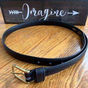 Eddie Bauer black leather belt